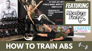 How To Train Abs    Monkey Feet Abs Workout    Monkey Feet Workout Demonstration   Dumbbell Workout