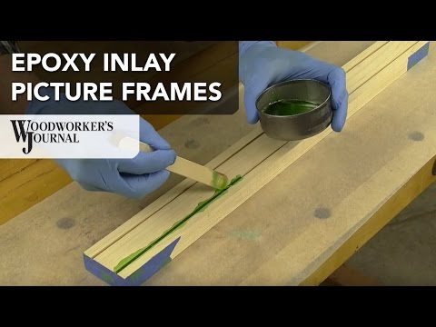 How to Make a Picture Frame with Epoxy Inlay Detail