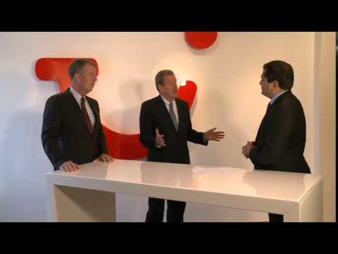 Interview with the joint CEOs Fritz Joussen and Peter Long on day 1 of the new TUI Group