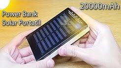 UNBOXING Cargador Solar Portatil Power Bank 20000mAh | En Español!