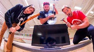 CAN WE BREAK THIS? / FlatScreen TV !