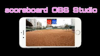 scoreboard on OBS studio for live streaming application