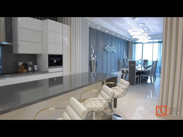 Modern White Kitchen Design Miami