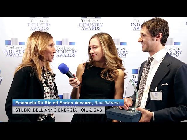 Emanuela Da Rin ed Enrico Vaccaro, BonelliErede 2 - TopLegal Industry Awards 2019