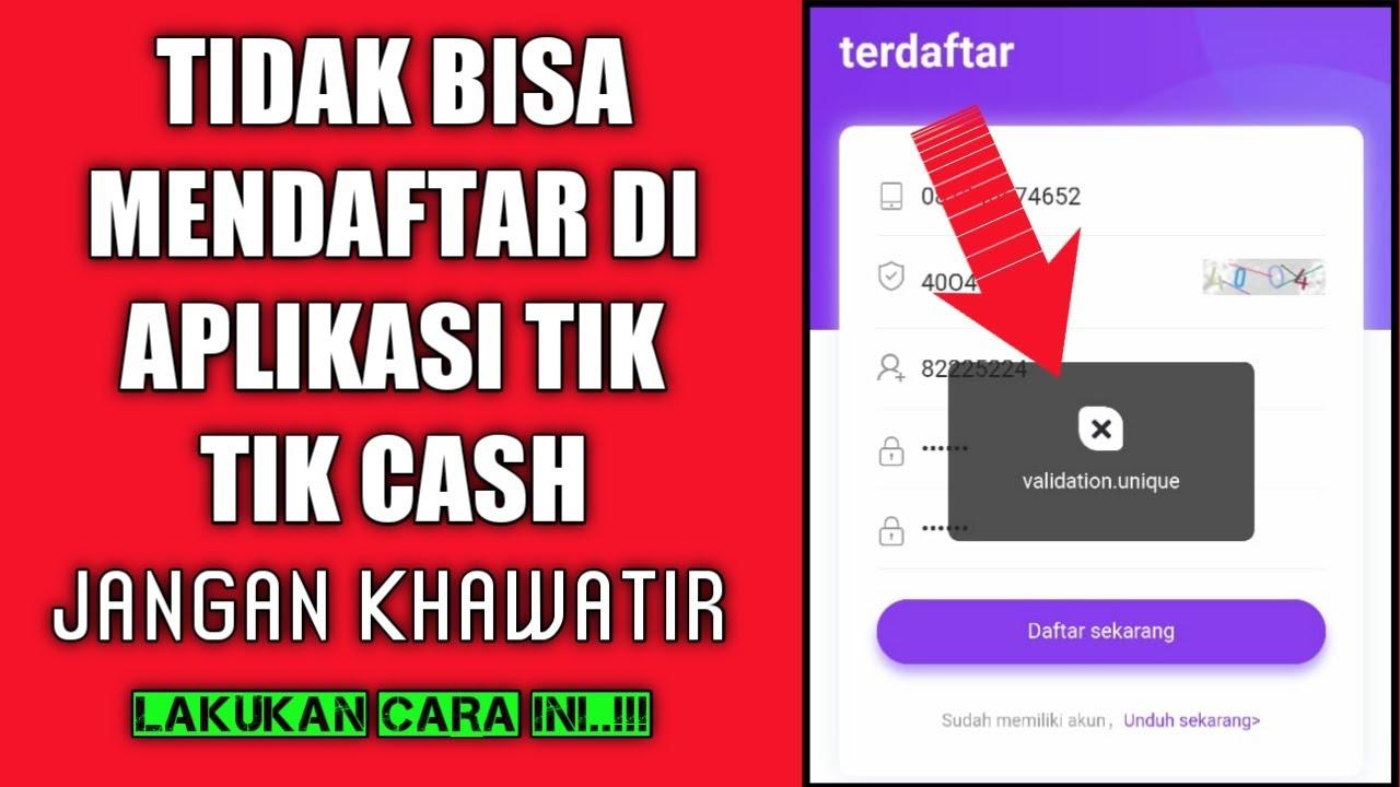 Cara Mengatasi Gagal Mendaftar Di Aplikasi Tiktok Cash Youtube