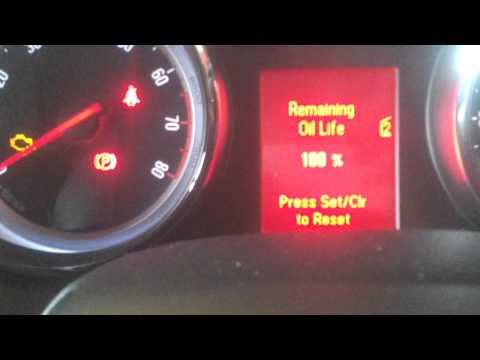 Vauxhall astra oil service light message rest