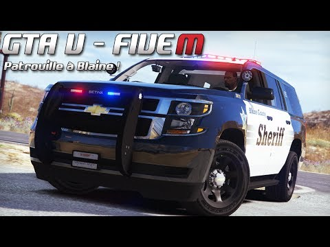 GTA 5 - Law Enforcement Live - Patrouille à Blaine ! (Five M)