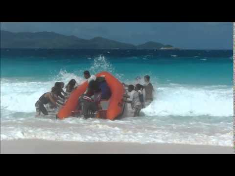 Exciting Aride Island Boat Launch during rough seas