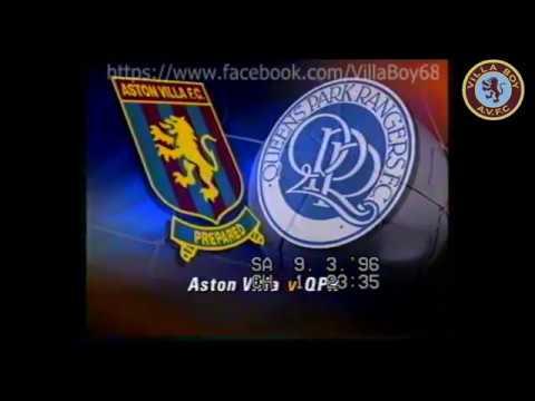 Aston Villa  Fa Carling Premiership 9th March 1996
