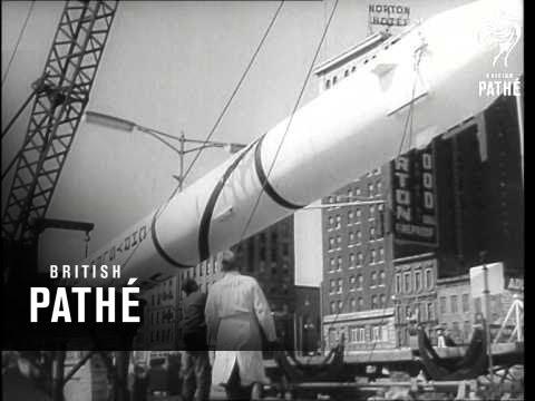Jupiter-C Rocket Shown In Detroit (1958)