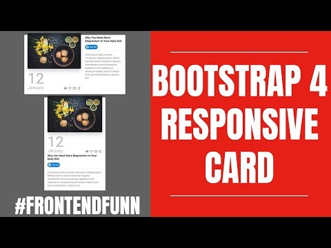 Responsive Bootstrap 4 Cards Design Tutorial - #frontendfunn thumbnail