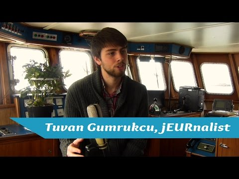 """Tuvan Gumrukcu from jEURnalist- """"It´s about time, effort and passion""""- Boat Talk Rotterdam"""