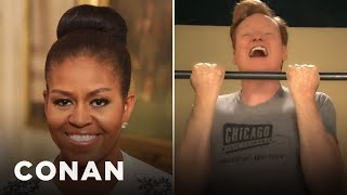 Conan Accepts Michelle Obama