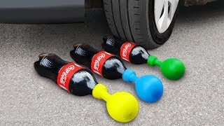 experiment: Car Vs Coca Cola and Balloons