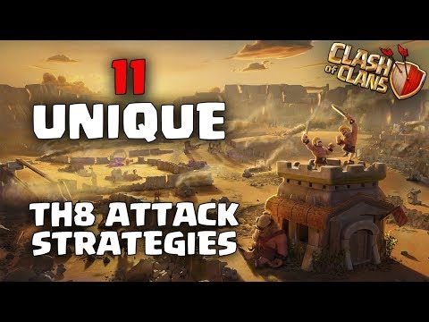 11 BEST & Unique TH8 Attack Strategy for 3 Stars | All Th8 Attack Strategy | Clash Of Clans COC