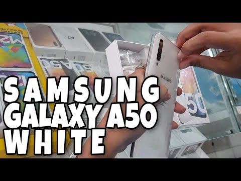 Unboxing & Review HP SAMSUNG GALAXY A50 WHITE Edition #samsunggalaxyA50 #A50