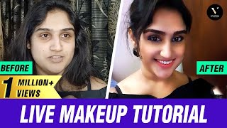 Live Makeup Tutorial | #CasualMakeUp (Product Details @ Description) | VV's Make Up Kit