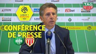 Conférence de presse AS Saint-Etienne - AS Monaco (1-0) / 2019-20
