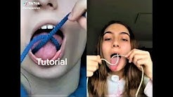 how to tie a knot with your mouth Tik Tok Challenge Compilation
