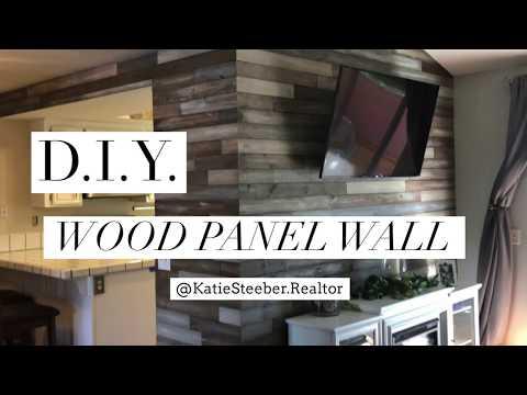 DIY - Wood Panel Wall