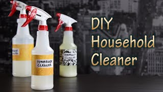 DIY Tutorial On How To Make Household Cleaner