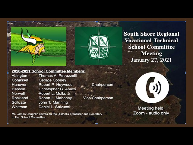 SSVT School Committee; Jan. 27, 2021