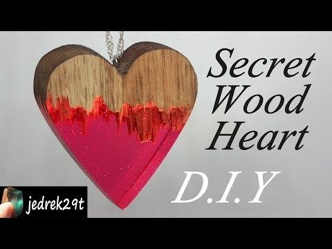 DIY. How to make Secret Wood Heart. Jak zrobić serce z żywicy i drewna.