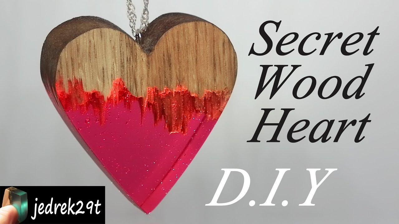 DIY. How to make Secret Wood Heart. Jak zrobić serce z ...