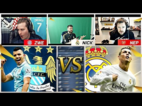 REACTING TO REAL MADRID MANCHESTER CITY CHAMPIONS LEAGUE CHALLENGE!