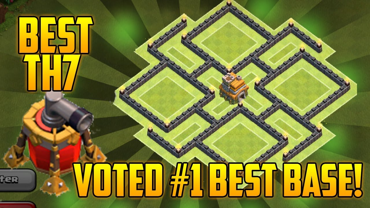 Clash of clans best th7 hybrid base 2016 youtube