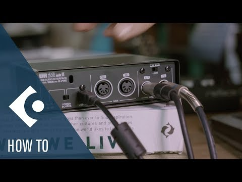 How to Set Up an Audio Interface and a Controller Keyboard | Getting Started with Cubase