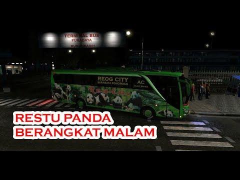 Restu Panda Ngeblong Tipis Malam Hari - ETS2 BUSMOD INDONESIA