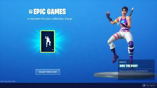 "Fortnite: Gifts/ nBKg desbloquea el emote *NEW* ""Ride The Pony"" #sk8NPLay #nBKg"