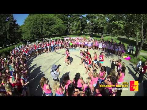 2015 Sorority Bid Day - Pittsburg State University