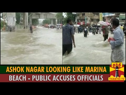 Ashok Nagar Looking Like Marina Beach : Public Accuses Chennai Corporation - Thanthi TV