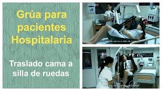 Grua traslado paciente - Traslado cama a silla de ruedas