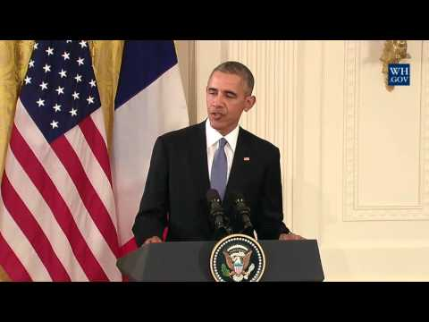 US & French Presidents United Against ISIS - Full News Conference