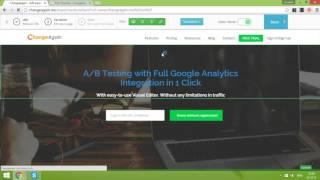 Wie erstellen Sie A/B-test in Changeagain.mich (A/B-testing-tool mit Vollständiger integration von Google Analytics)