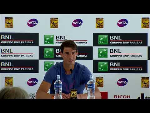 Rafael Nadal Press conference / R2 Rome Masters 2018