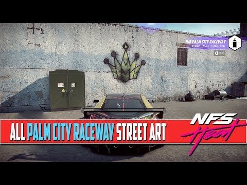 Need For Speed Heat All Street Art Locations Palm City Raceway