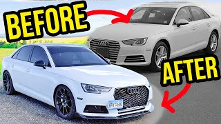 Download Building an Audi A4 B9 in 10 minutes like THROTL! Mp3 and Videos