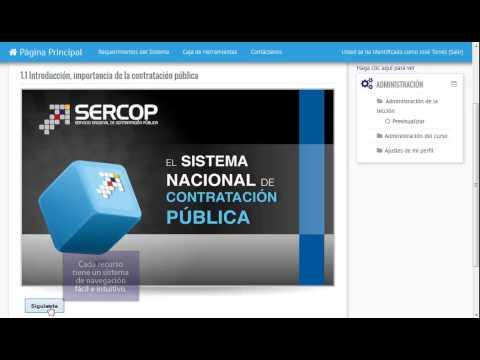 Manual de uso del portal de capacitación E-learning SERCOP