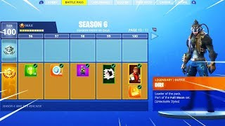 """DIRE"" TIER 100 SKIN UNLOCKED! Fortnite Season 6 MAX BATTLE PASS SHOWCASE! (NEW SEASON 6 GAMEPLAY)"