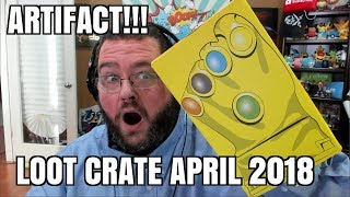 ARTIFACTS! INFINITY GAUNTLET? LOOT CRATE UNBOXING APRIL 2018