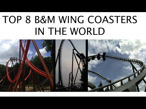 Top 8 B&M Wing Coasters in the World