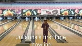 Julianna's first time bowling
