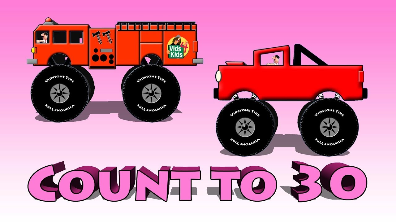Kids Counting With Trucks, Cars And Other