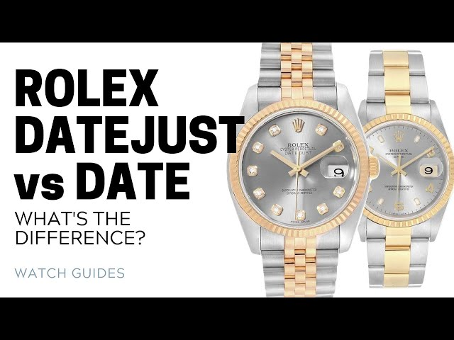 Rolex Datejust vs Rolex Date: What's the Difference? | SwissWatchExpo [Rolex Watches]