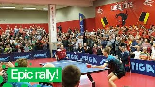Epic Last Minute Table Tennis Point | Incredible Ping Pong Rally