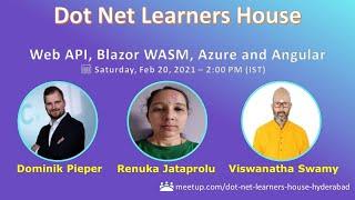 Web API, Blazor WASM, Azure and Angular